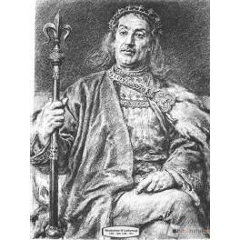 Władysław III Laskonogi wersja czarno-biała