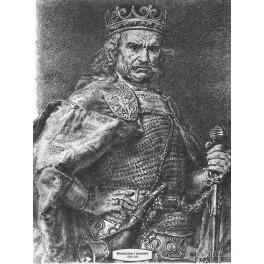 Władysław I Łokietek wersja czarno-biała