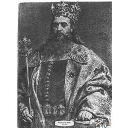 Kazimierz III Wielki wersja czarno-biała