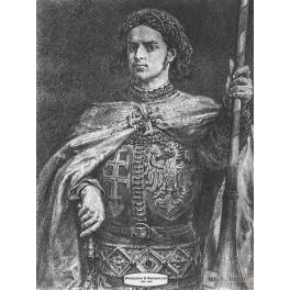 Władysław III Warneńczyk wersja czarno-biała