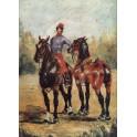 Stajenny z parą koni