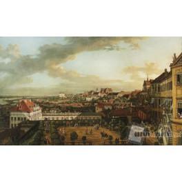 Widok Warszawy z tarasu Zamku Królewskiego