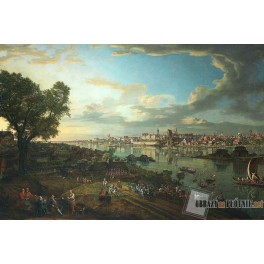Widok Warszawy od strony Pragi