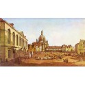 Nowy Rynek w Dreźnie od strony Jüdenhof