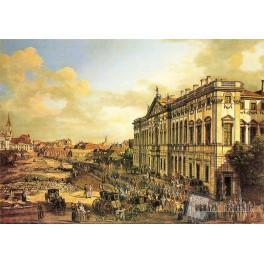 Plac Krasińskich z Pałacem Rzeczypospolitej
