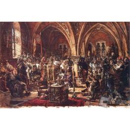 W Łęczycy pierwszy sejm. Spisanie praw. Ukrócenie rozbojów. R.P. 1182.