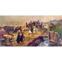 Defilada wojsk brandenburskich przed Janem III Sobieskim