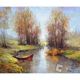 Łódka na rzece