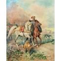Kozak z luzakiem i psami
