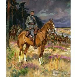 Marszałek Józef Piłsudski na Kasztance