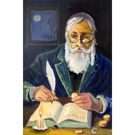 Żyd liczący pieniądze (na szczęście)