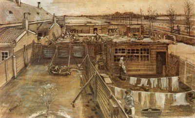 Vincent van Gogh - Carpenter's Workshop Seen from the Artist's Studio