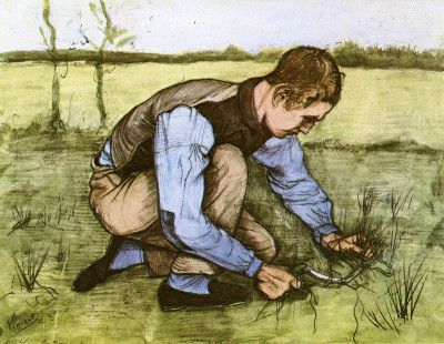 Vincent van Gogh - Boy Cuts Grass with a Sickle