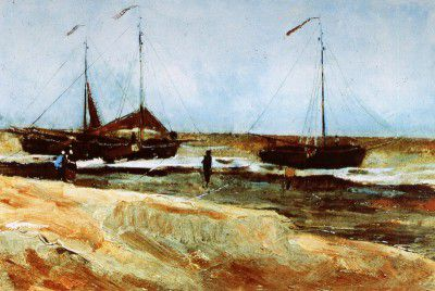 Vincent van Gogh - Scheveningen's Beach, Calm Weather
