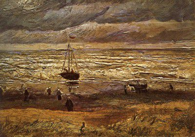 Vincent van Gogh - Scheveningen's Beach, Stormy Weather