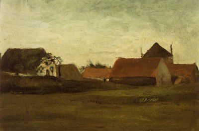 Vincent van Gogh - Farmhouses near Haia, Dusk Weather[1883]_resize