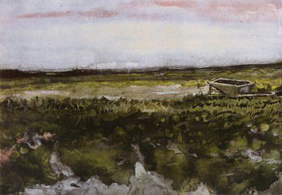 Vincent van Gogh - Heathland with a Wheelbarrow, Haia