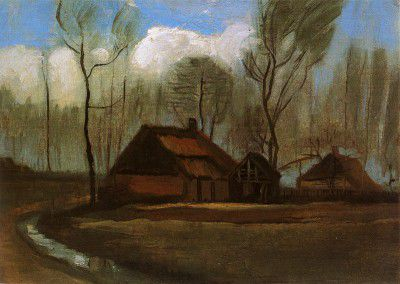 Vincent van Gogh - Farmhouses among Trees, Haia