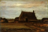 Vincent van Gogh - Farmhouses with stacks of peat, Drente