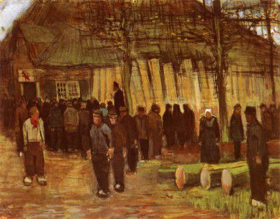 Vincent van Gogh - A Wood's Auction, Nuenen