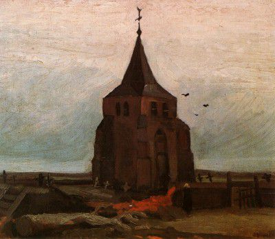 Vincent van Gogh - Old Church's Tower in Nuenen