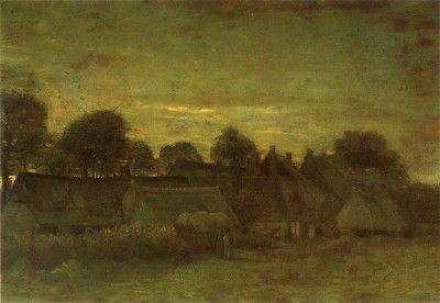 Vincent van Gogh - Village at Sunset, Nuenen