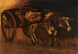 Vincent van Gogh - Cart with White and Red Ox, Nuenen
