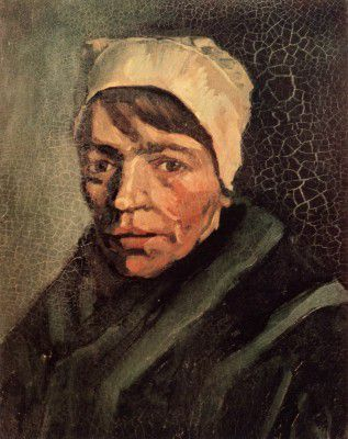 Vincent van Gogh - Female Peasant's Head with White Coif, Nuenen