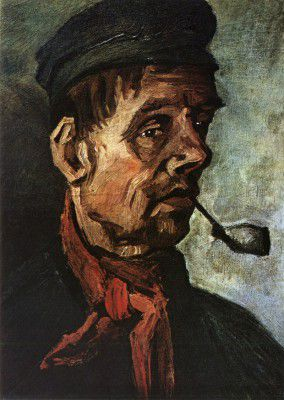 Vincent van Gogh - Male Peasant's Head with Pipe, Nuenen