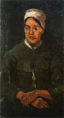 Vincent van Gogh - Seated Female Peasant (half-body)