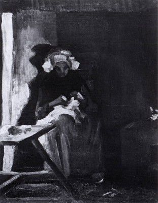 Vincent van Gogh - Female Peasant Sewing, Nuenen