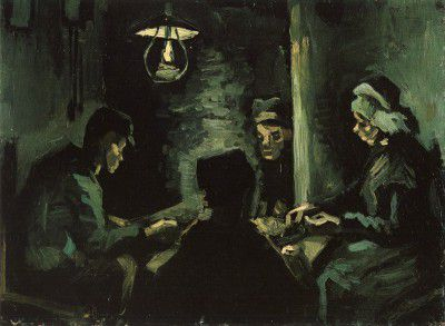 Vincent van Gogh - Four Peasants at the Table, Nuenen
