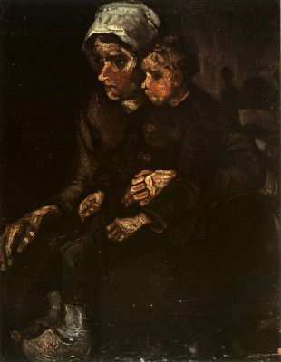 Vincent van Gogh - Female Peasant with Child on Lap, Nuenen