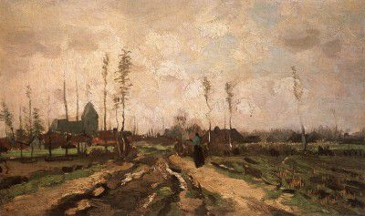 Vincent van Gogh - Landscape with Church and Farm, Nuenen