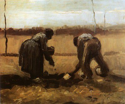 Vincent van Gogh - Peasants Planting Potatoes, Nuenen