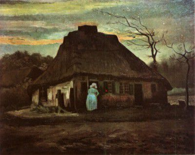 Vincent van Gogh - Cottage at Evening, Nuenen