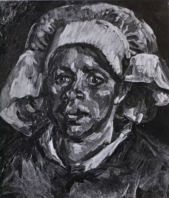 Vincent van Gogh - Female Peasant's Head, with White Coif, Nuenen