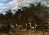 Vincent van Gogh - Cottage with a Woman and a Goat , Nuenen