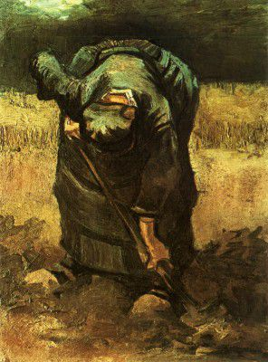 Vincent van Gogh - Female Peasant Digging, Nuenen