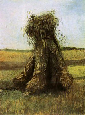 Vincent van Gogh - Sheaves of Wheat in the Field, Nuenen