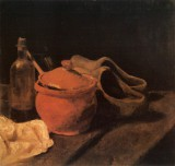 Vincent van Gogh - Still Life with Crockery, Bottle and Clogs, Nuenen