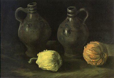 Vincent van Gogh - Still Life with Jugs and Pumpkins, Nuenen