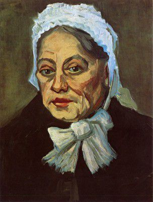 Vincent van Gogh - Head of Old Woman with White Cap (The Midwife), Nuenen