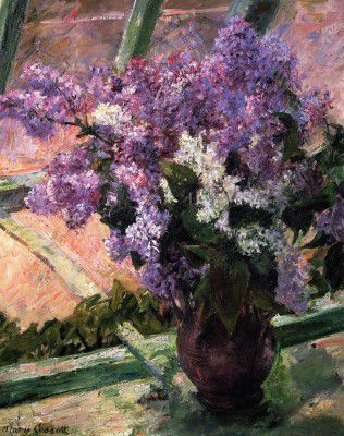 Cassatt Mary - Lilacs in a Window