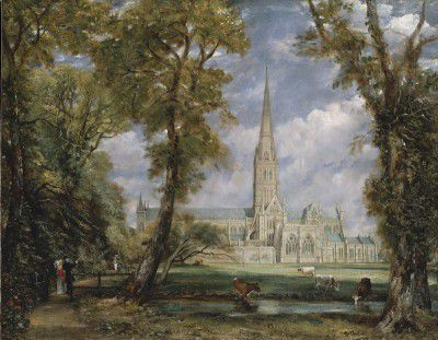 Constable, John - Salisbury Cathedral from the Bishops Garden