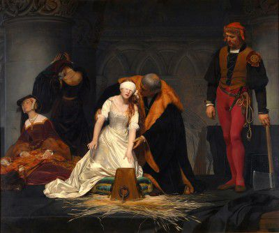 Delaroche, Paul - Ejecución de Lady Jane Grey