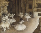 Degas Edgar - Ballet Rehearsal on Stage