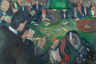 Edvard Munch - At the Roulette Table in Monte-Carlo