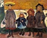 Edvard Munch - Four Girls in Asgardstrand
