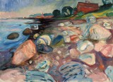 Edvard Munch - Shore with Red House